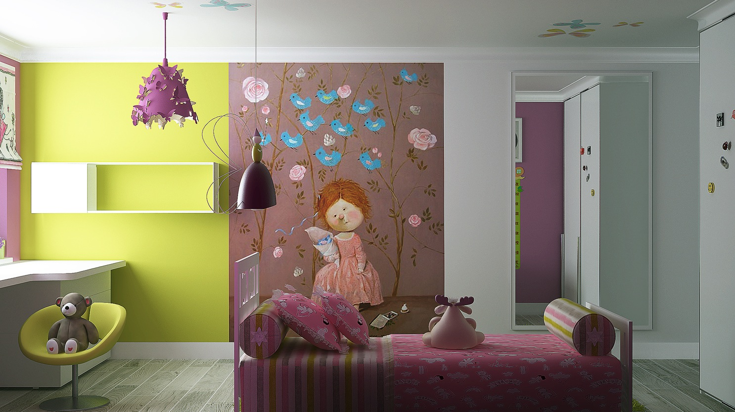 Colorful-girls-room-wall-mural