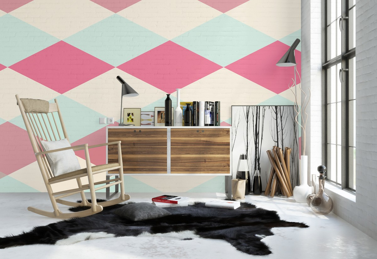 chic-reading-corner-decor-with-colorful-summer-theme-wall-murals